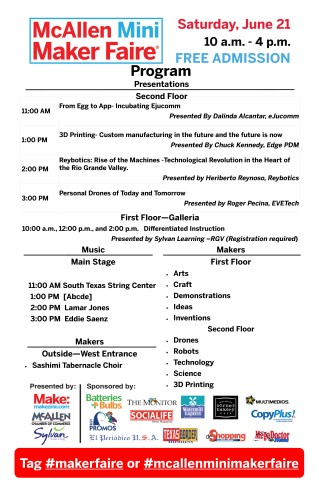 McAllen Mini Maker Faire - Program