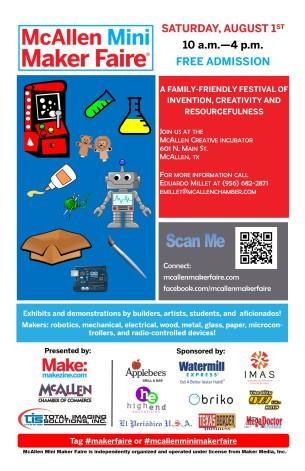 McAllen Mini Maker Faire - Poster - 2015 - Final