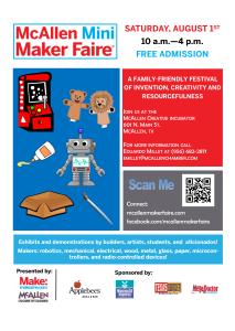 McAllen Mini Maker Faire - Poster - 2015